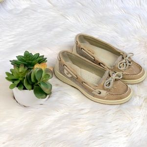Sperry Top Sider Angelfish boat loafer shoes tan